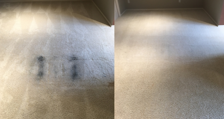 Recliner Grease Stain Removed